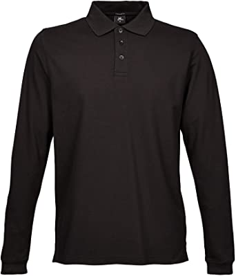3e67f5c72eed48 Tee Jays Herren Luxury Stretch Longsleeve Polo-Shirt