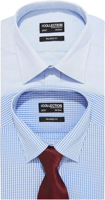 Juego de camisas y corbatas grandes y altas, diseño azul, 18,5 ...