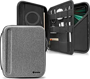 tomtoc Portfolio Case for iPad Pro 12.9-inch 2021/2020/2018, Protective Sleeve with Accessories Pocket, Carrying Storage Bag for iPad Pencil/Adapter/Hubs/Cables/ Magic Keyboard, Fits Surface Pro 12.3