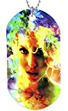 Mark Lewis Art Lady Gaga necklace dog tag pendant, keychain and gift bag – lgs1-lg-dt Signed Collectible