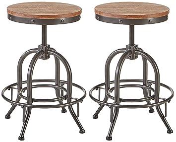 buy online 54a9e b48d7 Ashley Furniture Signature Design - Pinnadel Swivel Bar Stool - Counter  Height - Set of 2 - Light Brown