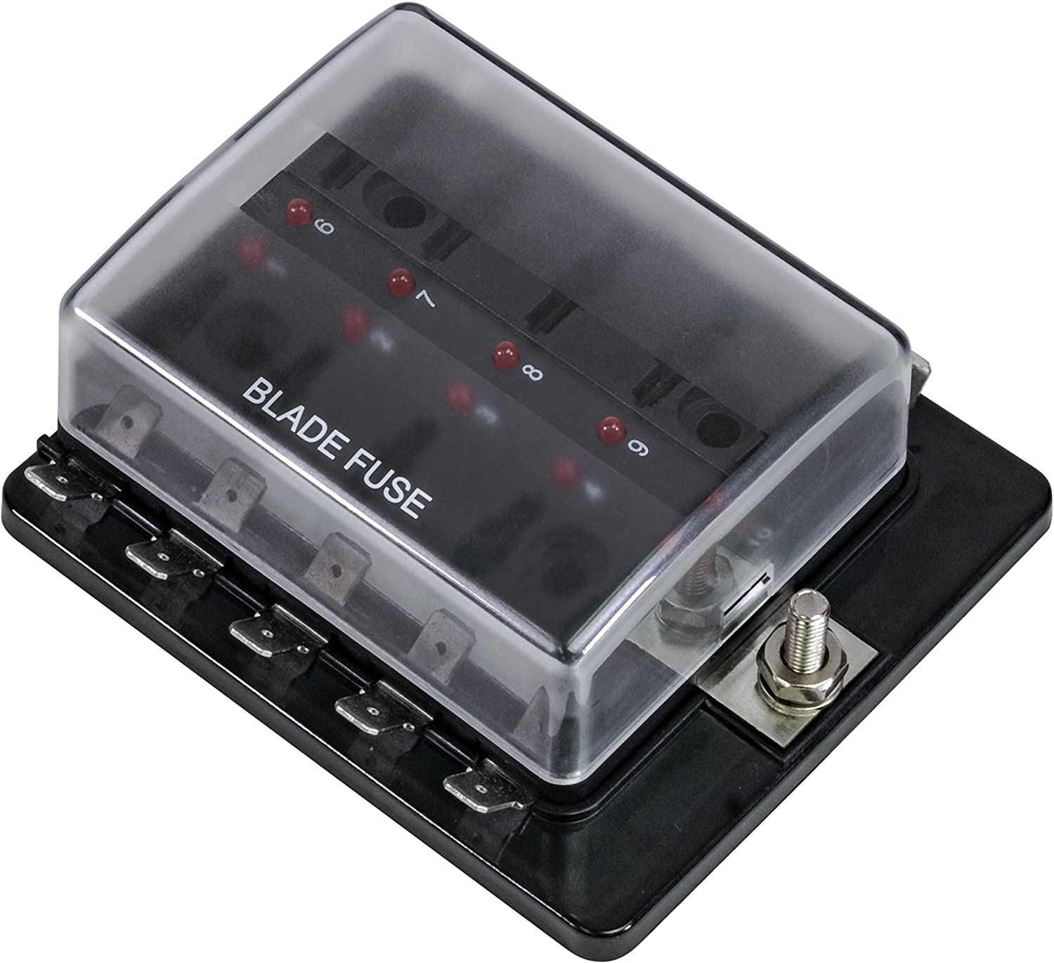 [QMVU_8575]  Amazon.com: 10 Way Blade Fuse Box for Automotive [ATC/ATO Blade Fuses] [100  Amp][LED Indicator] [Protection Cover] [10-30V DC; 12V] Auto Marine Fuse  Block: Automotive | 10 Amp Fuse Box |  | Amazon.com