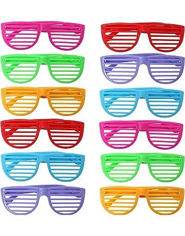 b382be0c5c THE TWIDDLERS 50 Gafas de Persianas - Plástico Duro - Colores Surtidos -  Ideal para Disfraces