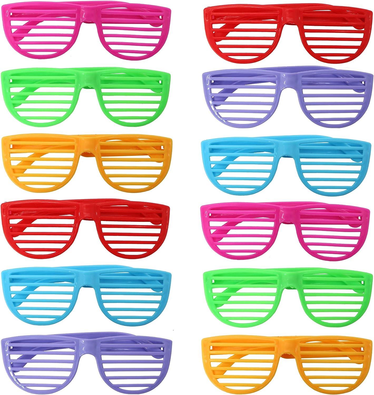 THE TWIDDLERS 50 Gafas de Persianas - Plástico Duro - Colores Surtidos - Ideal para Disfraces - Regalos de Fiesta - Rellenos para Bolsas de Fiesta - Regalos de cumpleaños.