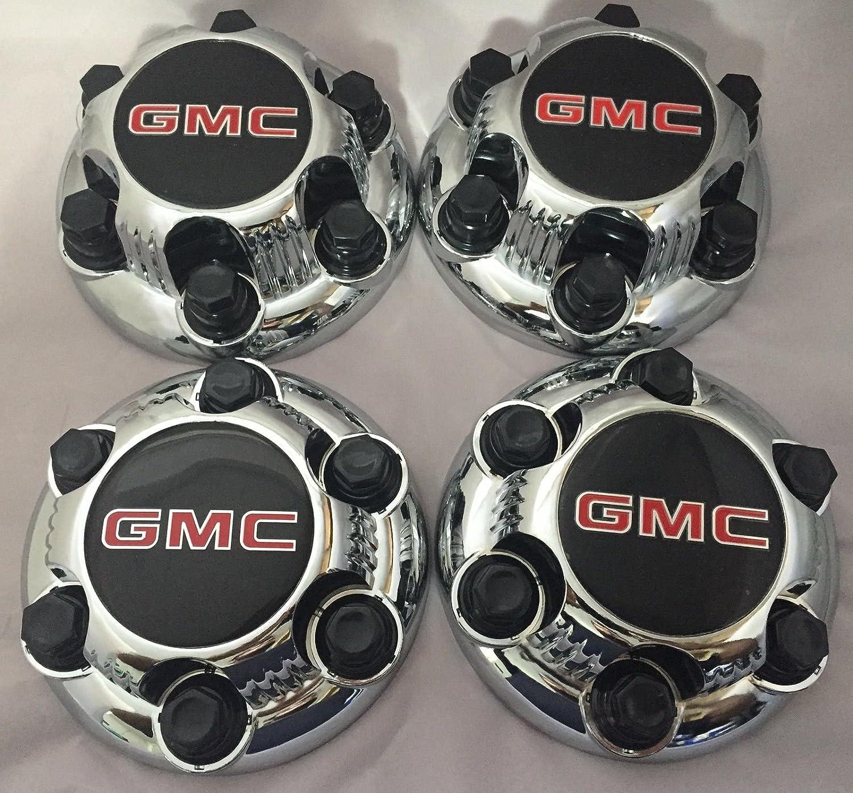 Replacement Part Set Of 4 Chrome Gmc Sierra Yukon Gm 3500 Engine Belt Diagram Savana 6 Lug 1500 Center Caps 16 17 Wheels Automotive