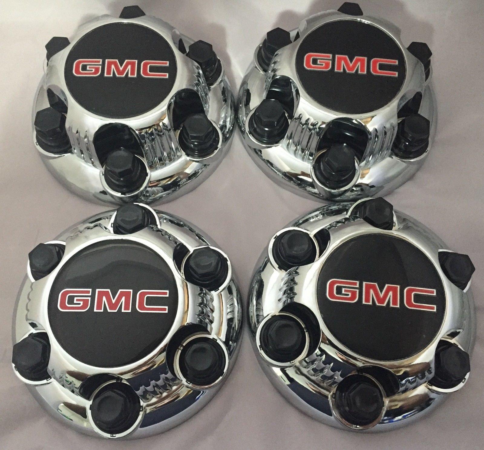 REPLACEMENT PART: Set of 4 Chrome GMC Sierra Yukon Savana 6 Lug 1500 Center Caps 16'' 17'' Wheels