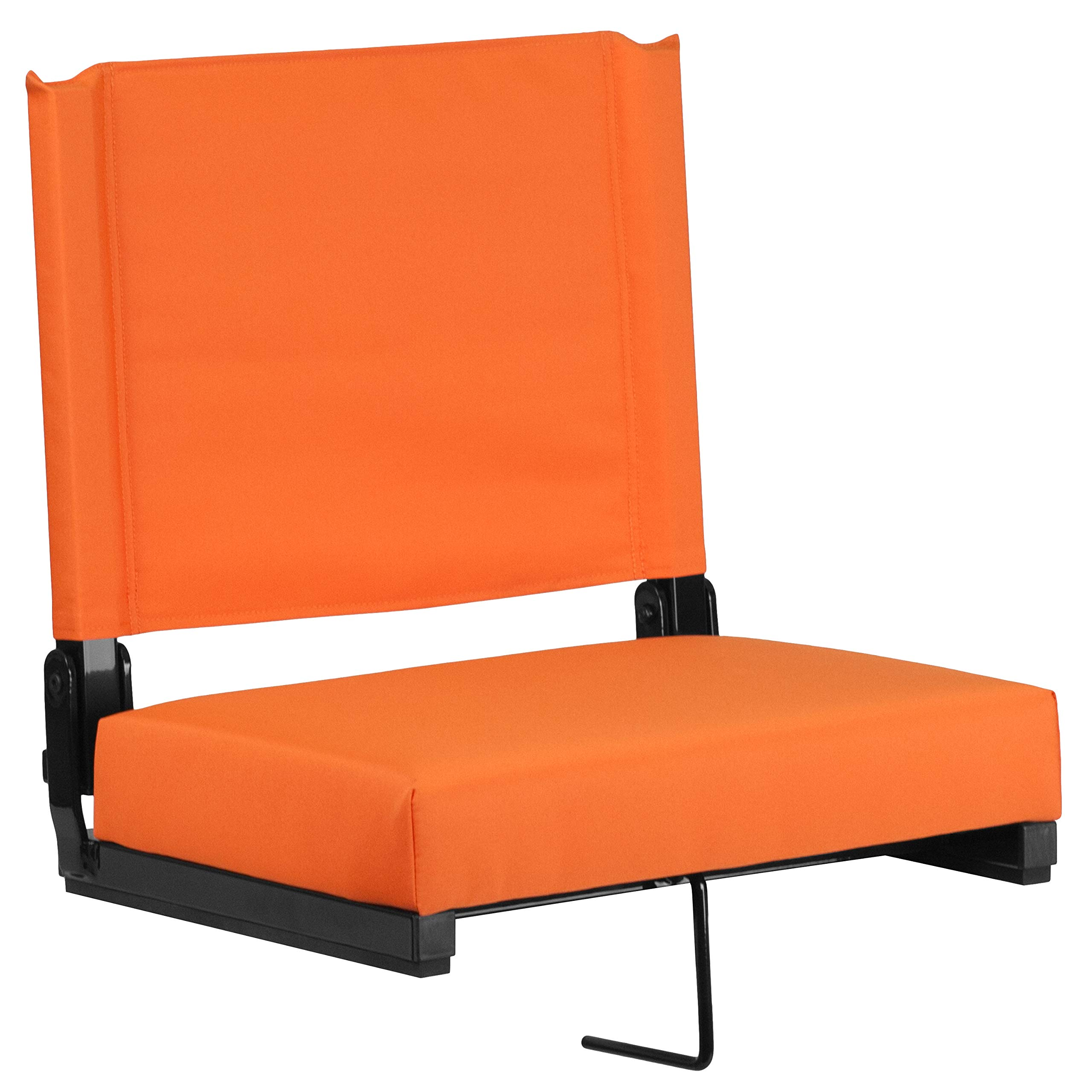 Flash Furniture Grandstand Comfort Seats by Flash with Ultra-Padded Seat in Orange by Flash Furniture