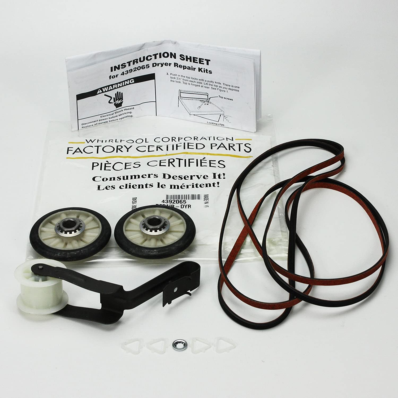 FACTORY Kenmore Sears Kirkland Roper Dryer Kit Part # 4392065, with Belt 341241, Idler 691366, Rollers 349241t