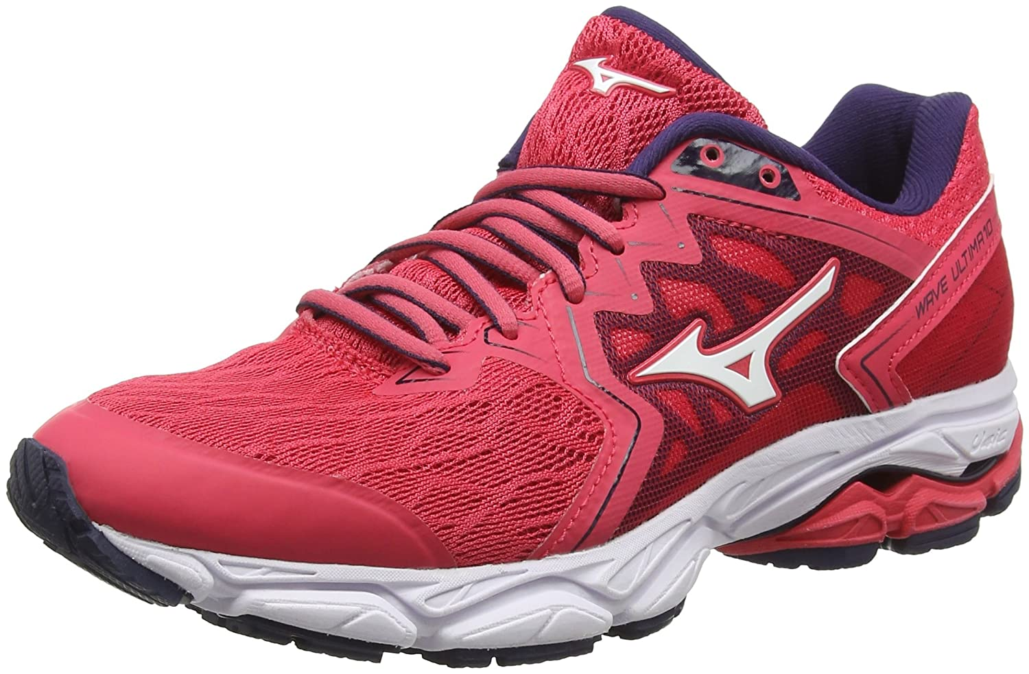 Mizuno Wave Ultima 10, Zapatillas de Running para Mujer 39 EU|Rojo (Teaberry/White/Evening Blue 02)