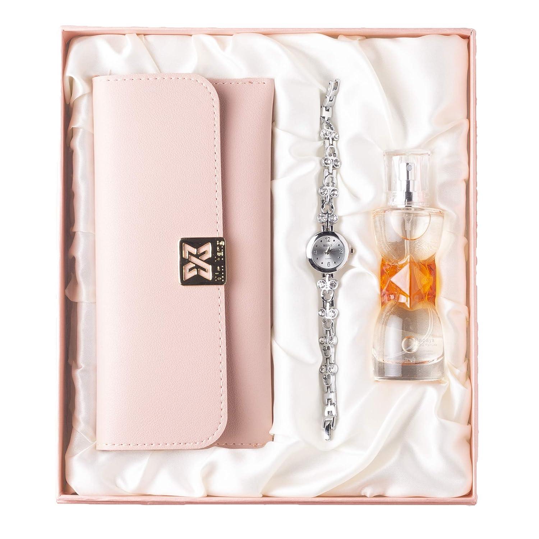 Women's Luxurious Perfume, Watch & Clutch Combo Set