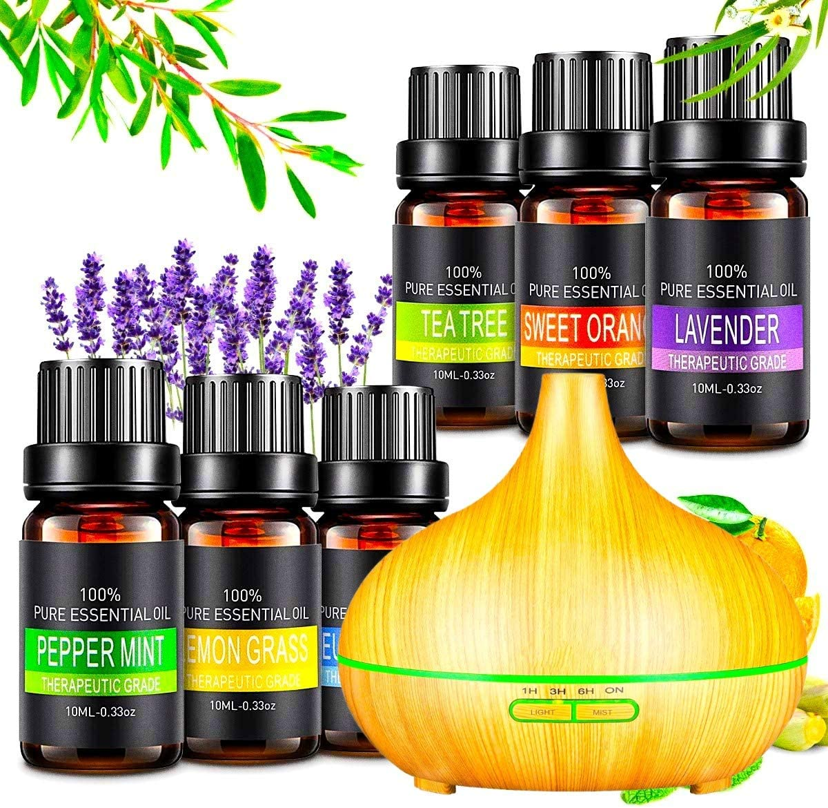 400ml Essential Oil Diffusers for Aromatherapy, Lavender Oil