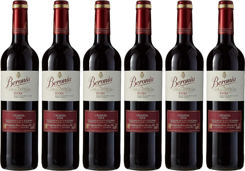 Beronia Crianza Vino D.O.Ca. Rioja - 6 Botellas de 750 ml - Total: 4500 ml: Amazon.es: Alimentación y bebidas