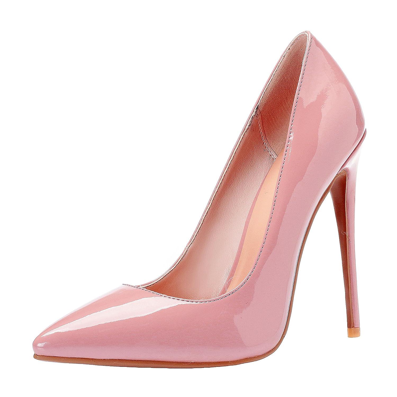 ZAPROMA Zapatos de Mujer de Tacón Alto Puntiagudo Punta Estrecha Bombas de Boda 4 B(M) US|Rosado (Pink 3)