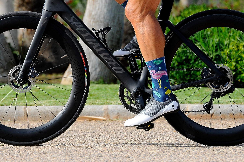 Calcetines de Ciclismo MTB y Running de Meryl para Hombre y Mujer nortei Tropicana