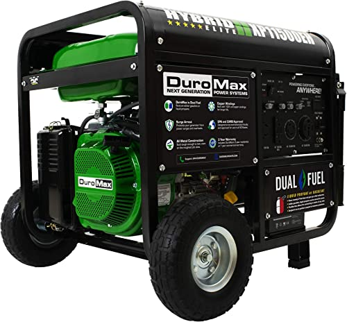 DuroMax XP11500EH Generator, Green and Black