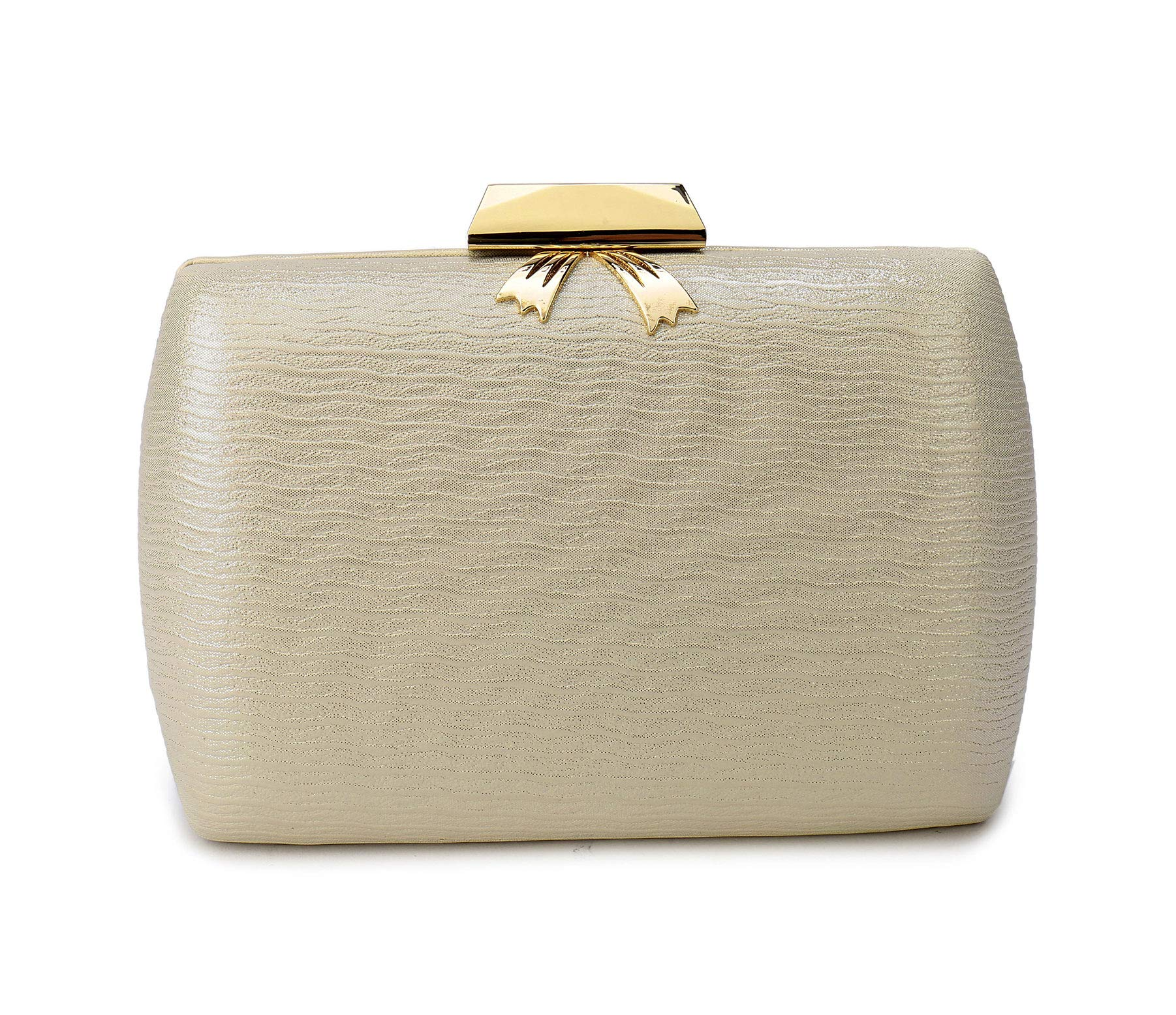 Leather Evening Clutches Handbag Bridal Purse Party Bags For Prom Cocktail Wedding Women/Girls (Gold)