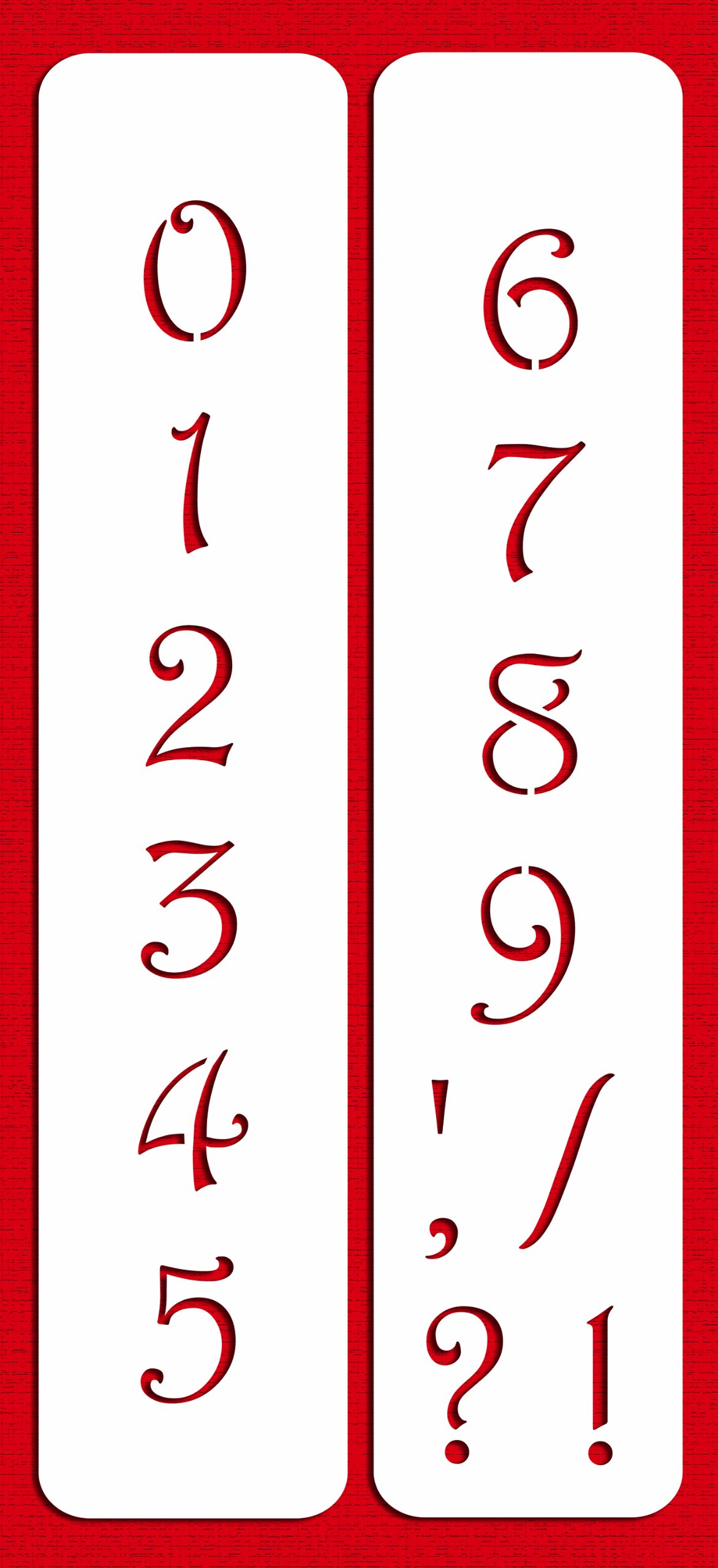 Designer Stencils C139 1.75 Inch Contemporary Numbers Cake Stencils, Beige/semi-transparent