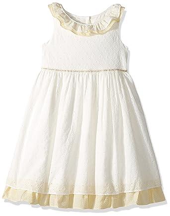 8d77b9e18 Amazon.com: Laura Ashley London Girls' Little Ruffle Collar Party Dress:  Clothing