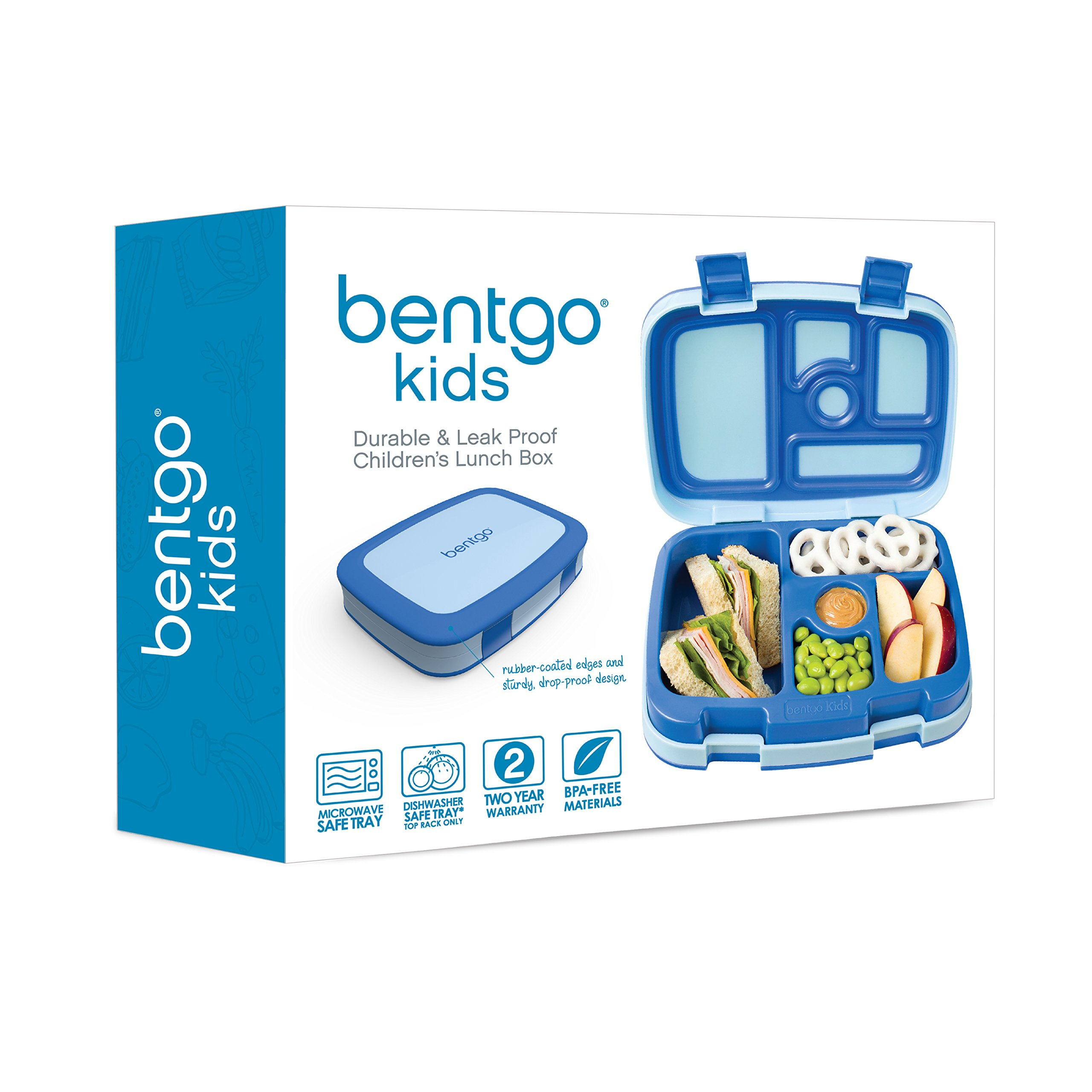 Bentgo Kids Childrens Lunch Box - Bento-Styled Lunch Solution Offers Durable, Leak-Proof, On-the-Go Meal and Snack Packing by Bentgo (Image #5)