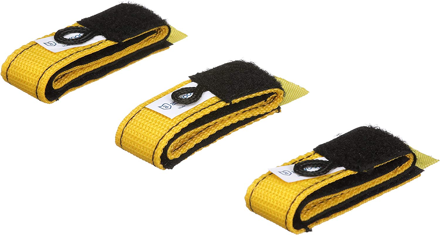 Attwood 11792-6 Rope Wraps, Secure Ropes and Cords, 3 1-Inch x 12-Inch Straps with Sewn-in Hook-and-Loop Fasteners