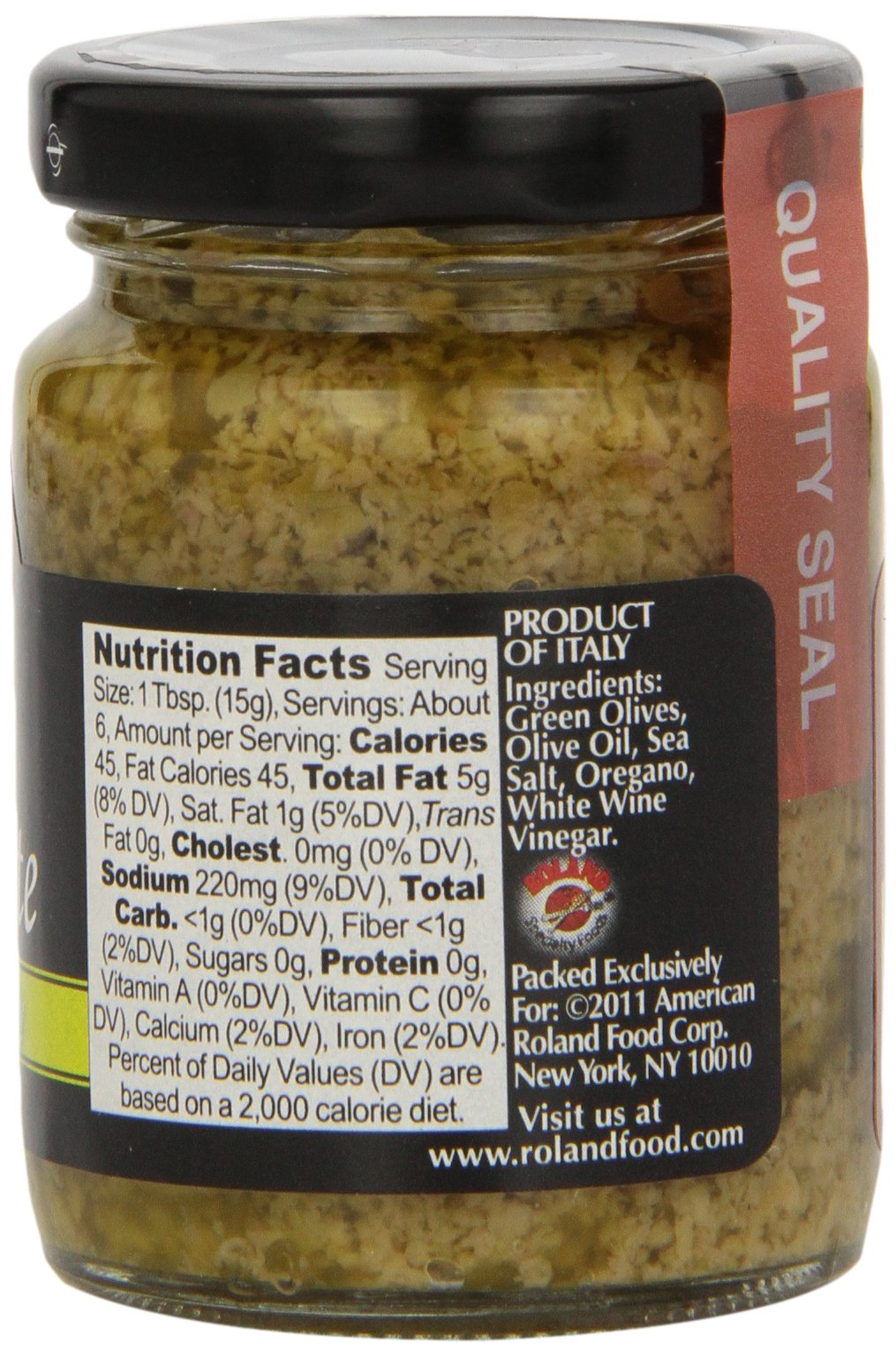 Roland Olive Paste, Green, 3 Ounce (Pack of 12) by San Remo