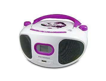 Licht Projector Kinderkamer : Metronic 477122 cd radio boombox miss angel weiß lila: amazon.de