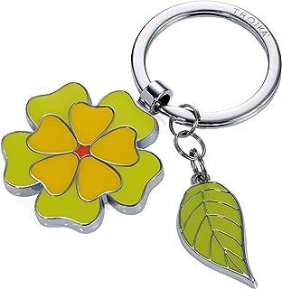 Troika Fleur - KR17-06/GR - Porte-clés avec 2 pendentifs - Fleur - Feuille - Printemps - Floral - Femelle - Brillant - Vert - L'original de