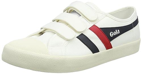 Gola Coaster Velcro Off White/Navy/Red, Zapatillas para Hombre, Hueso Wx, 43 EU: Amazon.es: Zapatos y complementos
