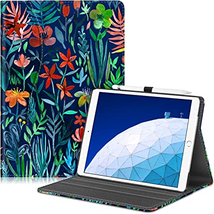 - Portrait and Landscape Multi-Angle Viewing Smart Stand Cover with Pencil Holder Blossom FINTIE Case for iPad Air 3 10.5 2019 // iPad Pro 10.5 2017 Auto Sleep//Wake Corner Protection