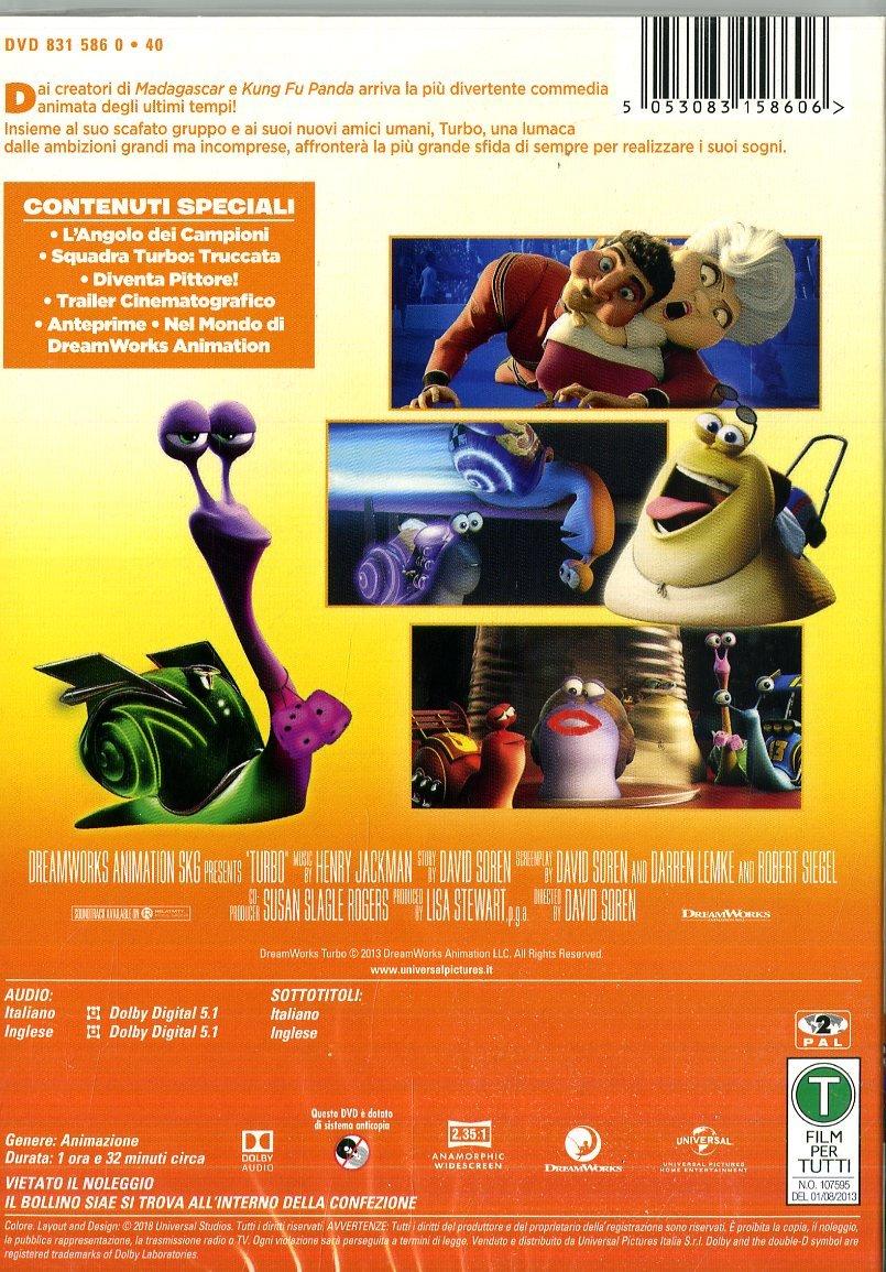 Turbo [Italia] [DVD]: Amazon.es: Henry Jackman, David Soren: Cine y Series TV