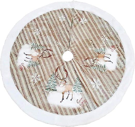 COMEYOU Falda de árbol de Navidad Estera de árbol Falda de árbol ...