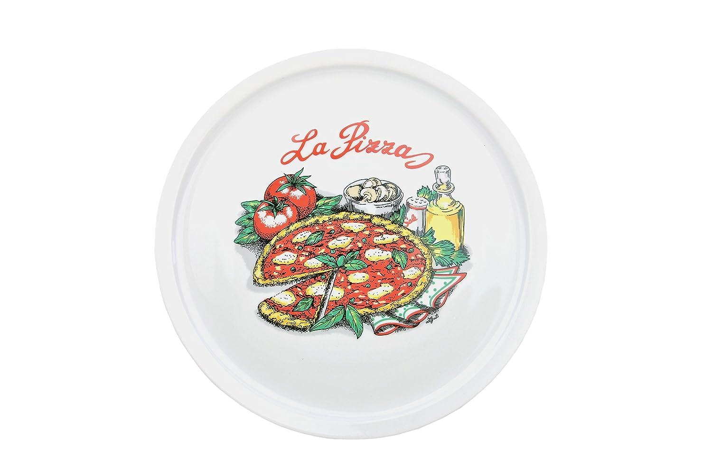 6er Set Van Well Pizzateller mit Küchenchef Dekor