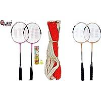 Klapp Zigma Single Shaft Badminton Badminton Set with 10 Shuttlecock