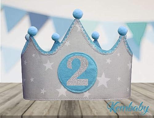 Corona tela primer cumpleaños 2 años para niños y niñas ...
