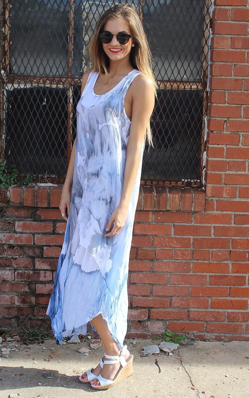 NEW Scandal Italy Trendy Edge 2 pc Tank Dress Blue/Grey Size OSFM