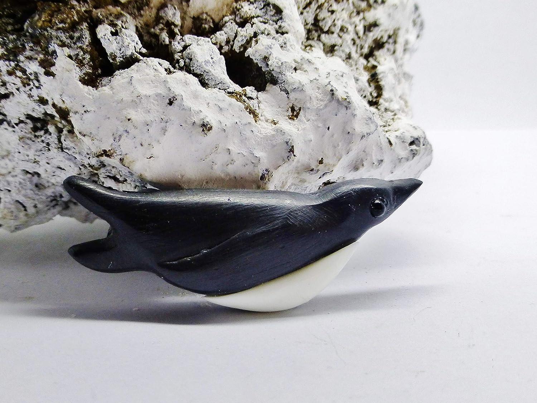 Penguin brooch resin black white diving sledging swimming penguin pin gift Feral Spirit copyright