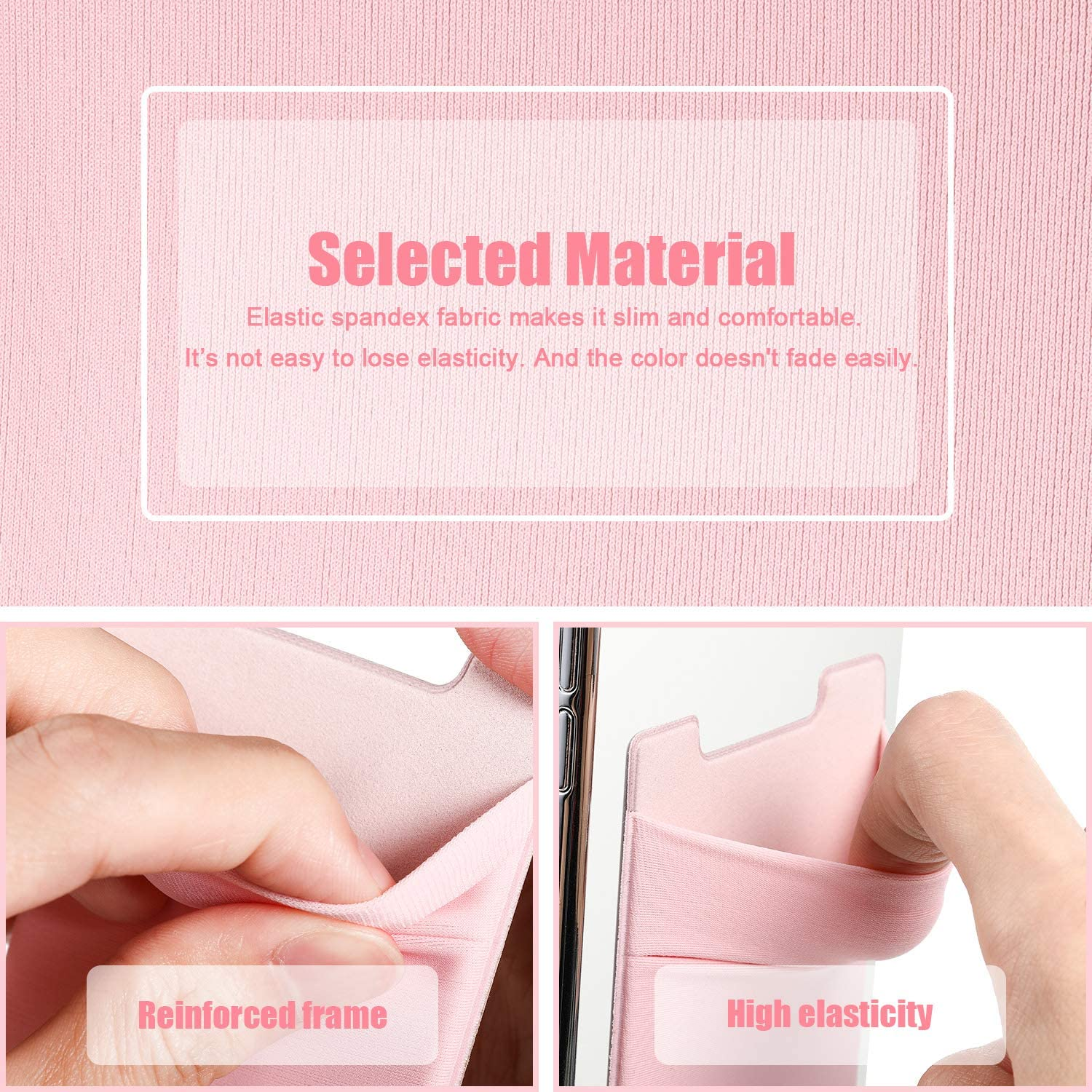 12 Pieces Phone Card Holder Stretchy Card Wallet Multiple Colors ...