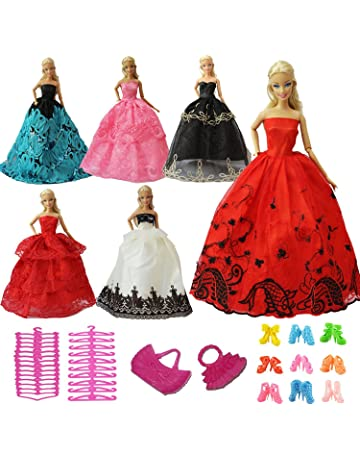 ZITA ELEMENT 15 Piezas Ropa y Accesorios - 5 Conjuntos Vestidos Barbie Fiesta Aleatorio 5 Pares