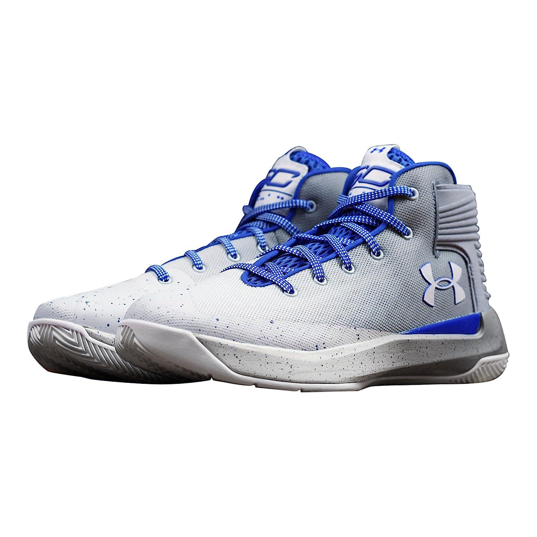Under Armour Men's Curry 3 Basketball Shoe B071JG8FTS 9.5 D(M) US White / Blue-grey