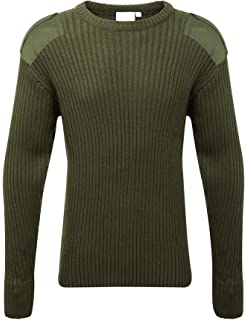 bb92e83f8fc4 Genuine Original USA Military 100% Wool 5-Buttons Sweater Pullover ...