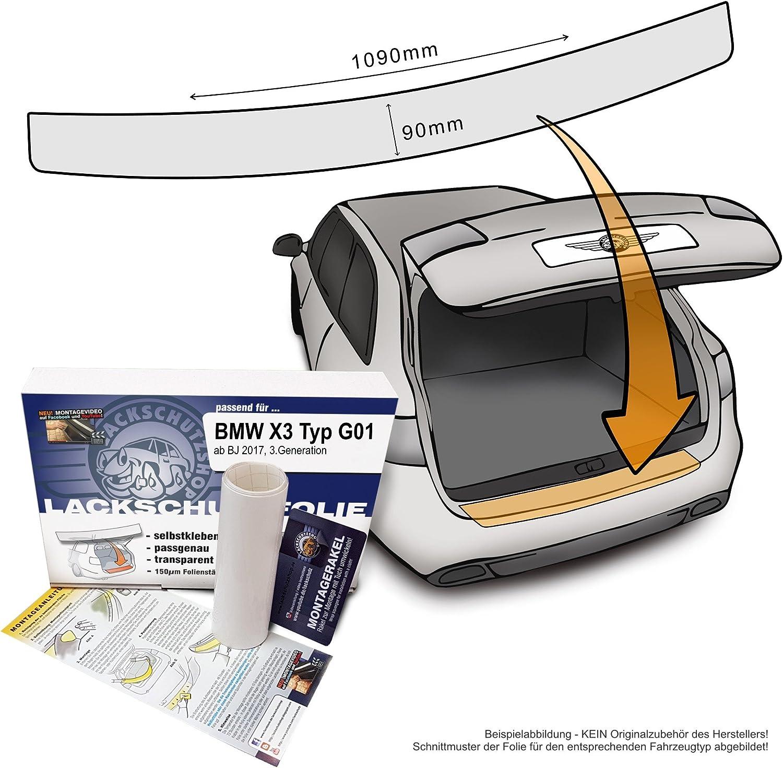 Passend Für Bmw X3 Typ G01 3 Generation Ab 2017 Passform Lackschutzfolie Als Selbstklebender Ladekantenschutz Autofolie Und Schutzfolie Transparent 150µm Auto