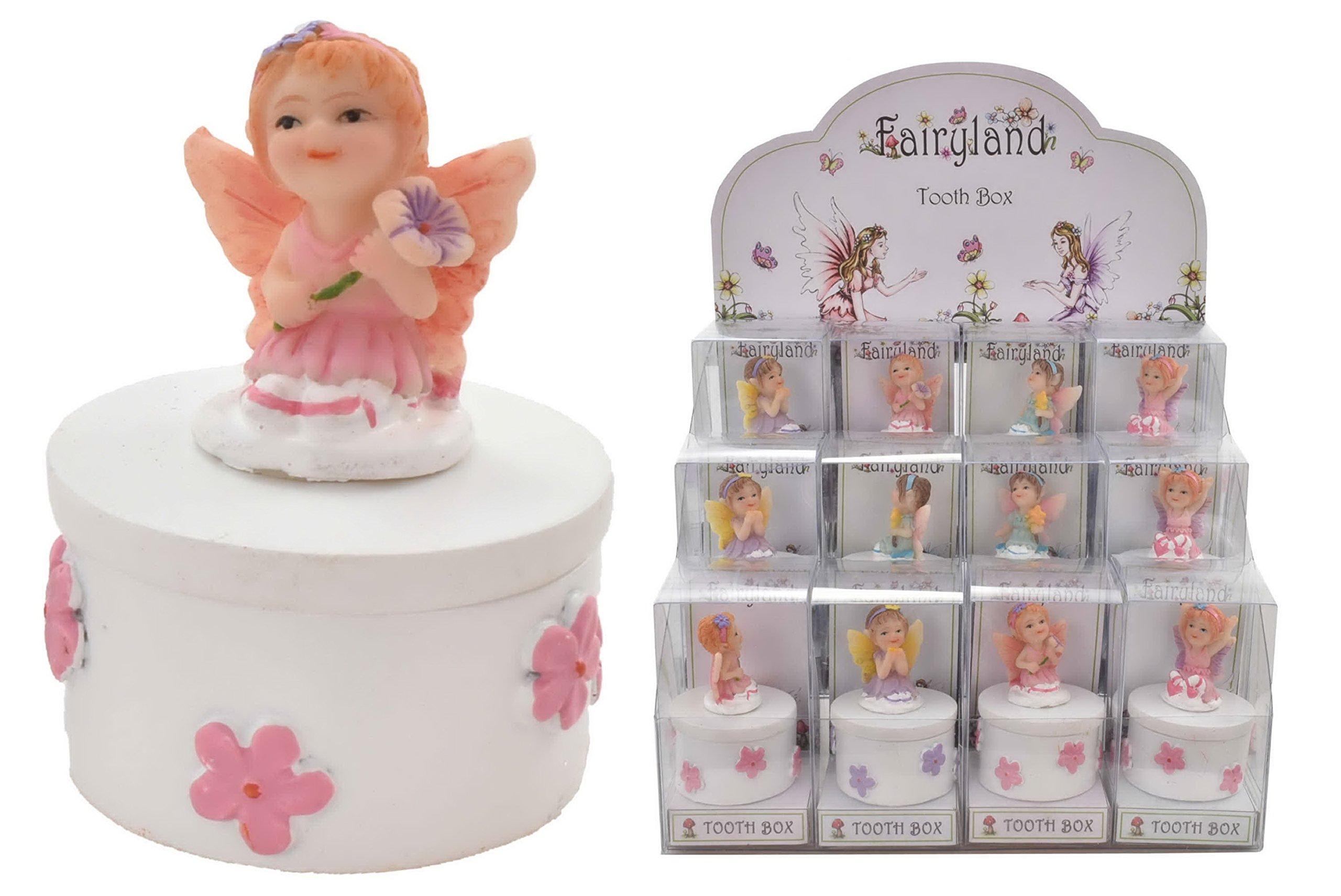 Kids Save Milk Teeth Wood Storage Box B 12.5x11.5x3cm Baby Lanugo Collection Souvenir Box Winkey Tooth Box Organizer for Baby