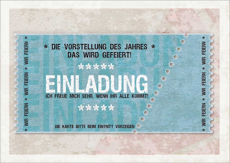 Coole Einladungskarte Zum Geburtstag, Einweihung, Party (blau): Die  Vorstellung Des Jahres   Das Wird Gefeiert! Einladung Ich Freue Mich Sehr,  Wenn Ihr Alle ...