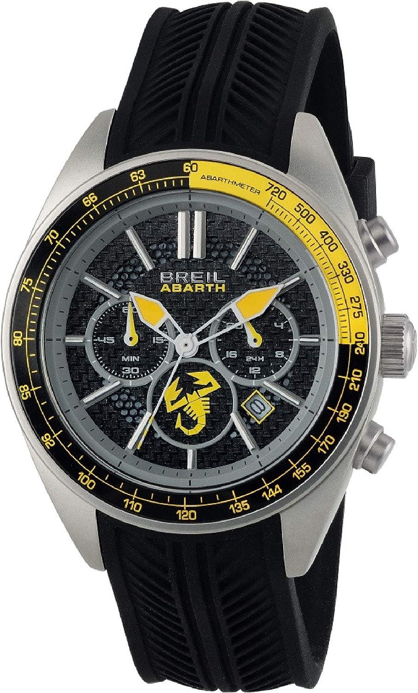Reloj BREIL Hombre Abarth Esfera Negro e Correa in silicio Negro, Movimiento Chrono Cuarzo