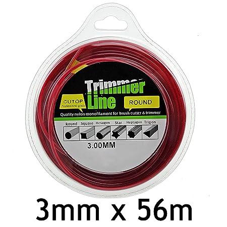 Spares2go redondo 3 mm de diámetro 56 m línea de cortacésped ...