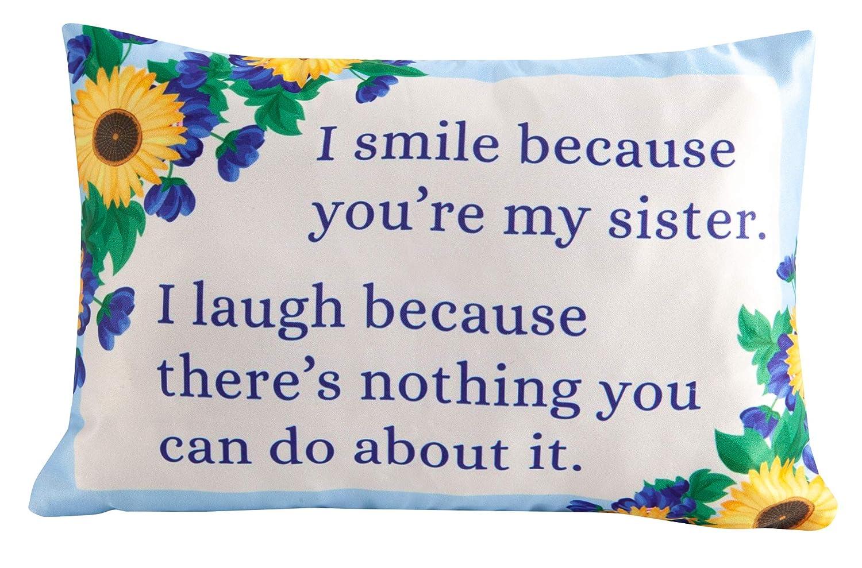 Sister Gift Toss Pillow, Sentimental Saying Throw Pillow, 12' x 6' Accent Pillow 12 x 6 Accent Pillow Raysounds LTD