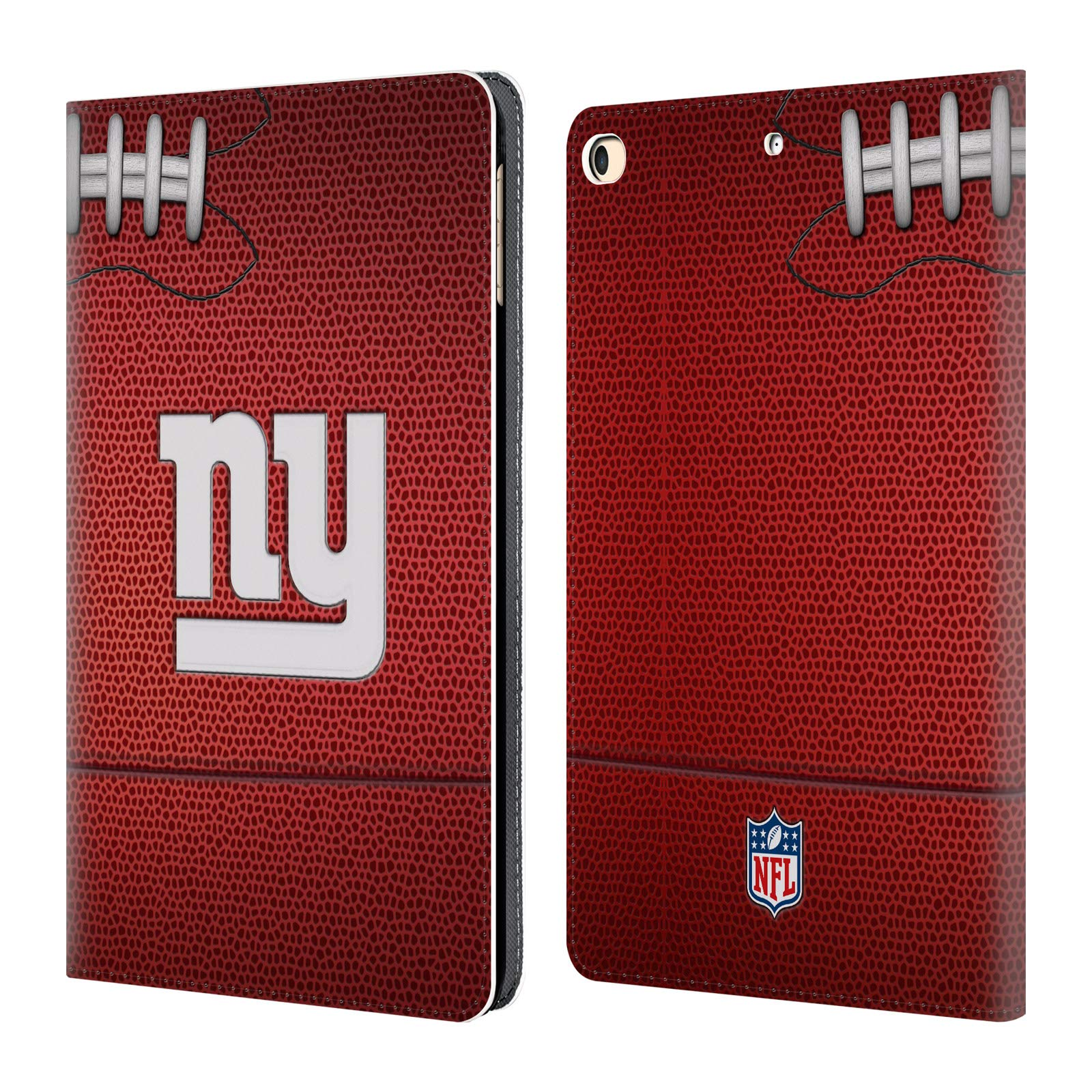Official NFL Football 2018/19 New York Giants Leather Book Wallet Case Cover for iPad 9.7 2017 / iPad 9.7 2018