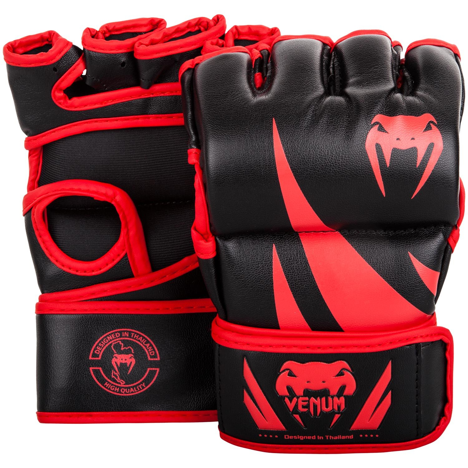 Venum Challenger MMA Gloves - Without Thumb - S, Black/Red, Small by Venum