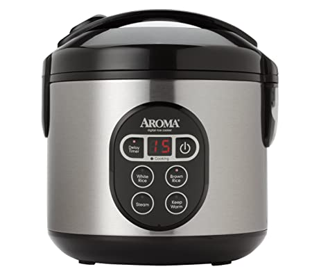 Aroma Housewares ARC-914SBD 8-Cup (Cooked) Digital Cool-Touch Rice Cooker and Food Steamer