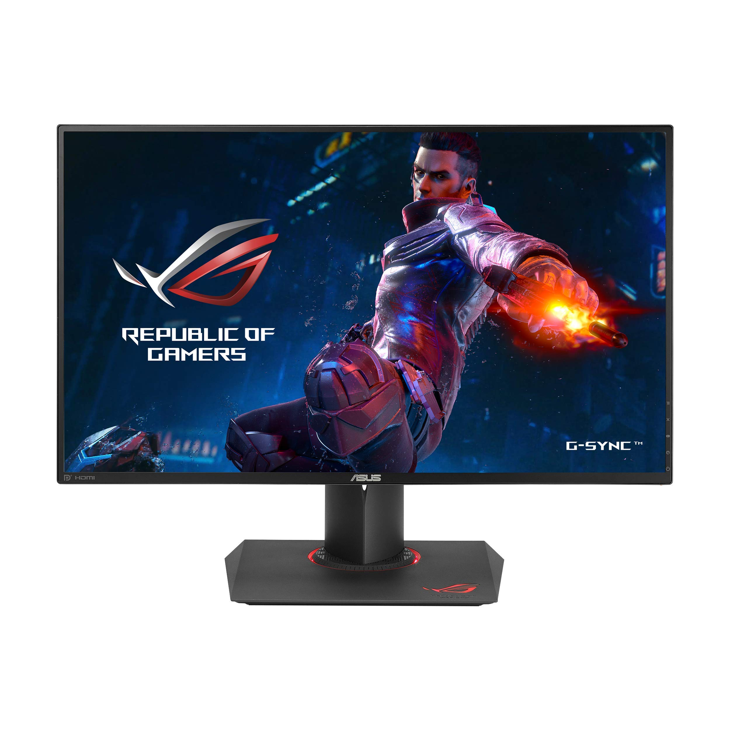 ASUS ROG PG279Q 27'' Gaming Monitor WQHD 1440p IPS 165Hz DisplayPort Adjustable Ergonomic EyeCare G-SYNC by ASUS